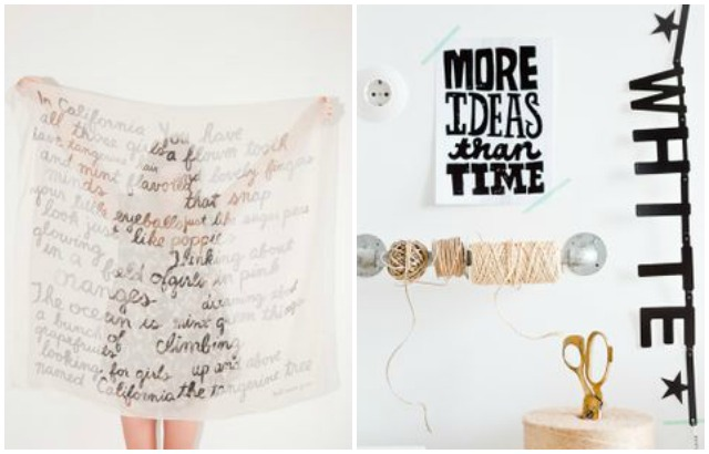 wall decoration idea, hand writing on the wall
