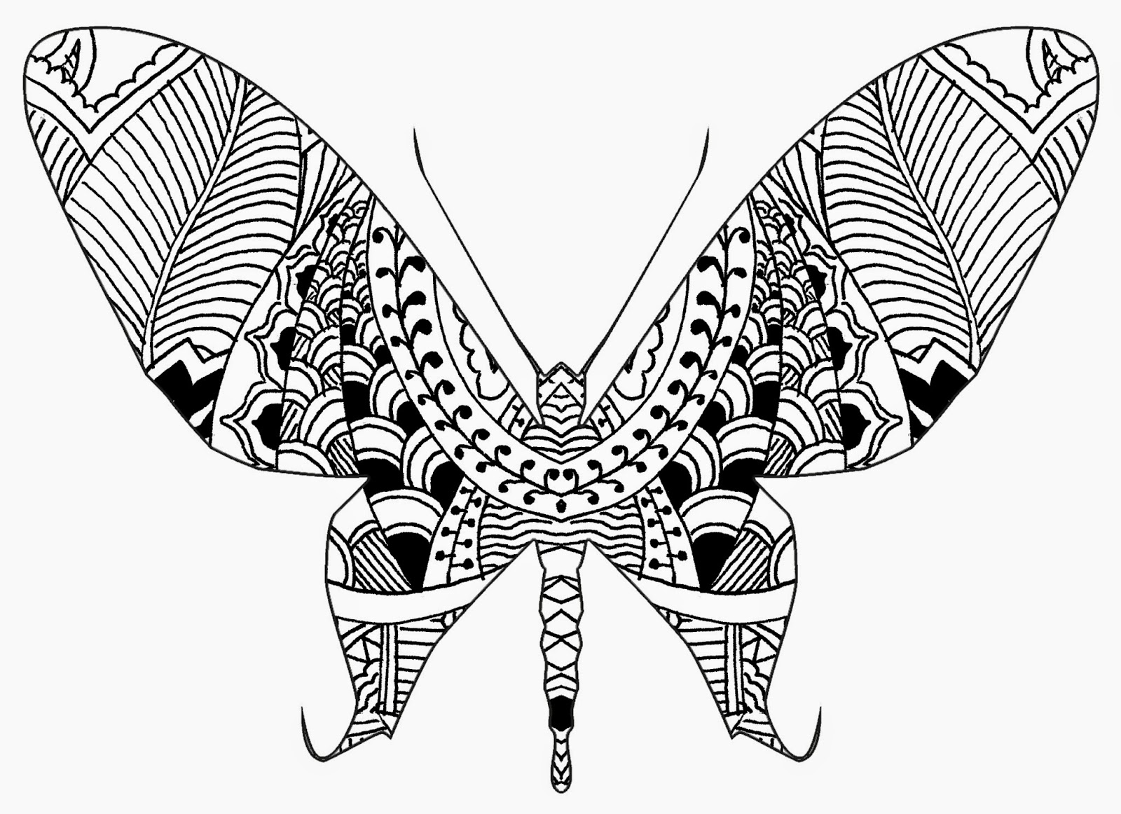 Brendan Burns Art Henna And Zentangle Inspired Butterflies 9