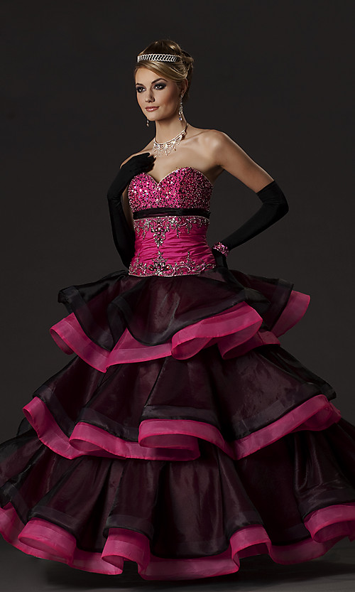 Wedding tips and ideas pink black wedding dresses for Black and pink wedding dress
