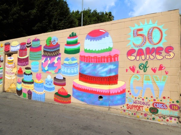 50 cakes of gay wall mural West Hollywood