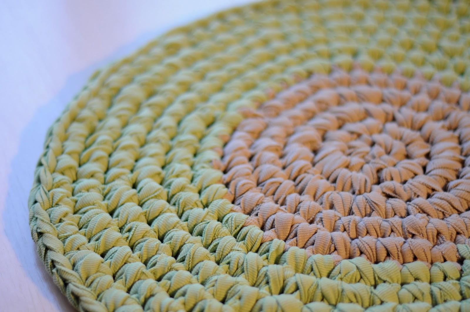 Ati ara tejidos para ambientar alfombra circular verde y for Alfombra redonda verde