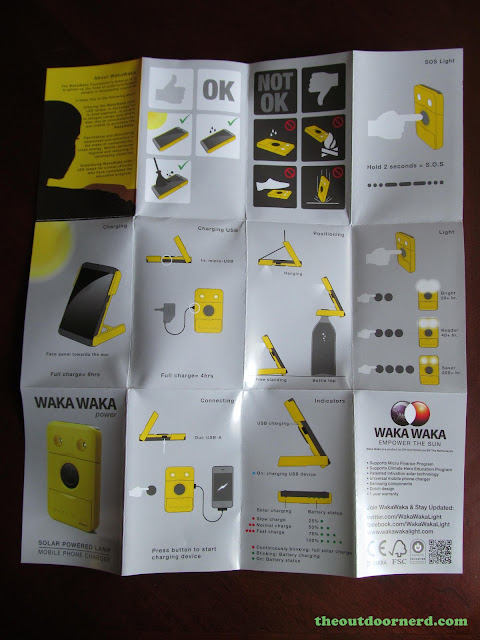 Waka Waka Power: Solar Lantern And Mobile Charger, Instruction Sheet