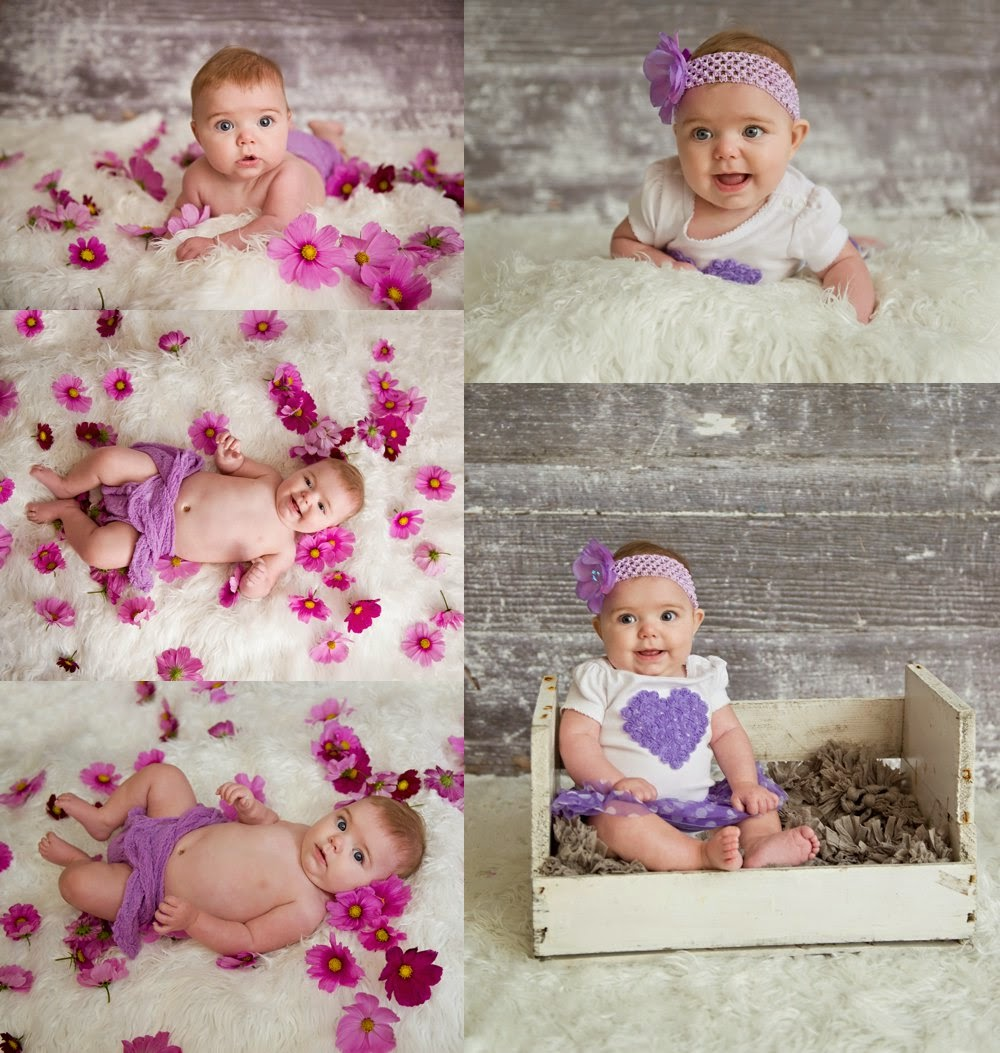 3 month old milestone session from Cherry Valley IL near Rockford
