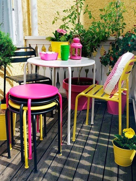 K k balkon dekorasyonu nas l olmal for Table de balcon ikea