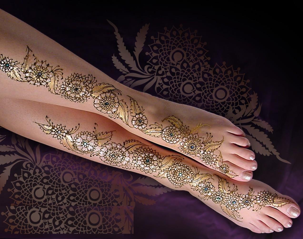 Mehndi For Ankle : Be jaan fashion foot mehndi designs
