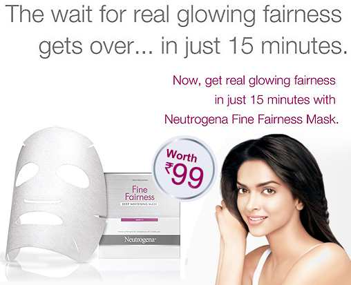 Free Sample of Neutrogena Fine Fairness Mask