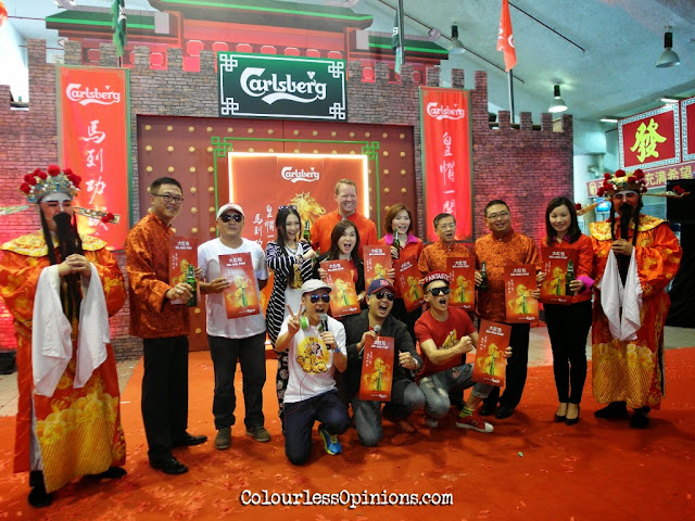 Ah Beng Mission Impossible cast Jack Lim, Yumi Wong, Gan Mei Yan at Carlsberg Malaysia CNY media launch at STC Selangor Turf Club