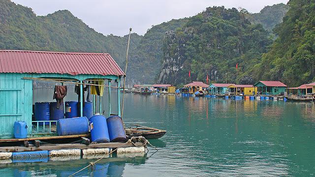 Village flottant sur la baie d'Along