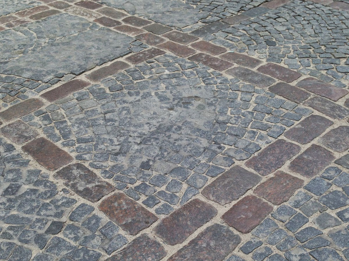 Cobblestones in the Old Town, Warsaw, by Maja Trochimczyk, 2014