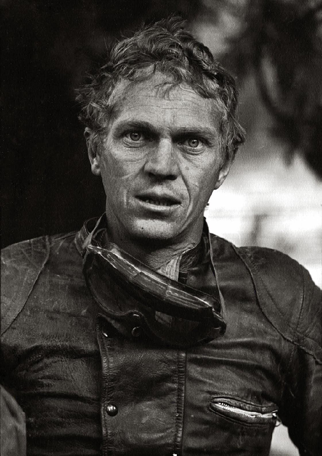 Steve McQueen in Lewis Leathers