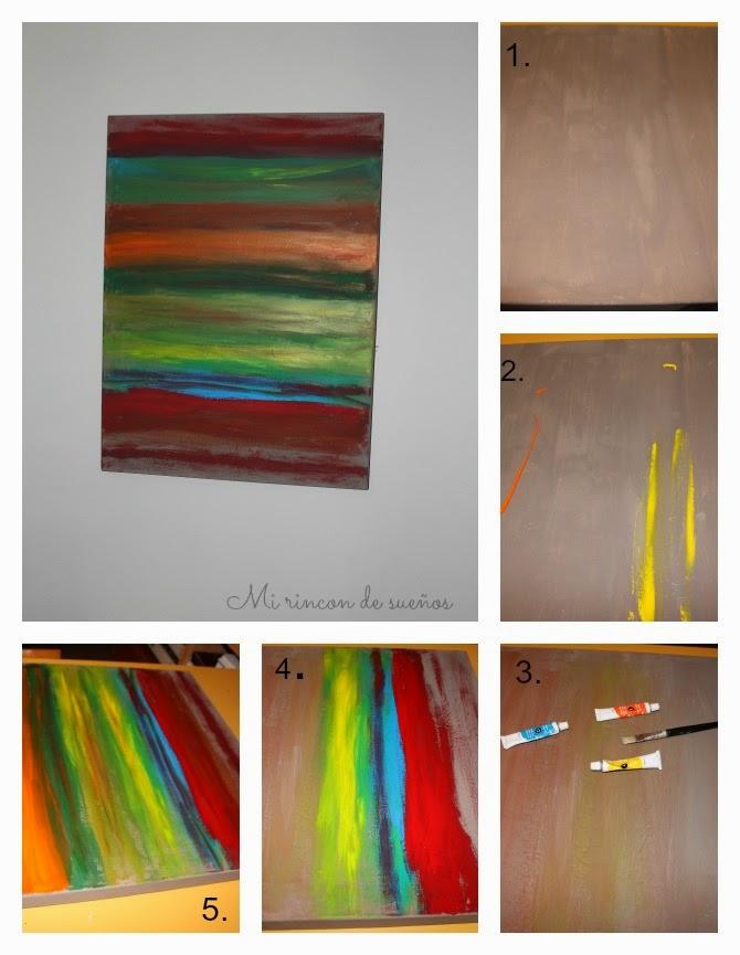 Pintar cuadros abstractos - Cuadros de colores ...