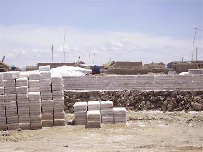 Construcciones de sal en el Salar de Uyuni