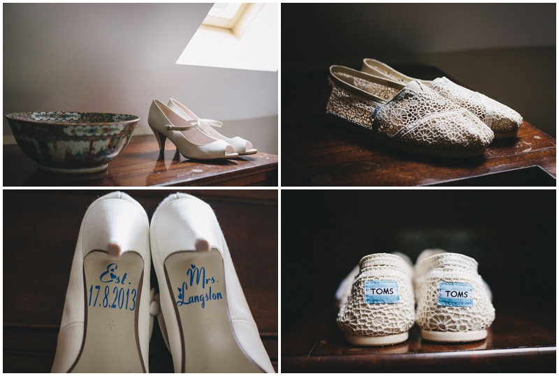 Bridal shoes, heels and Toms