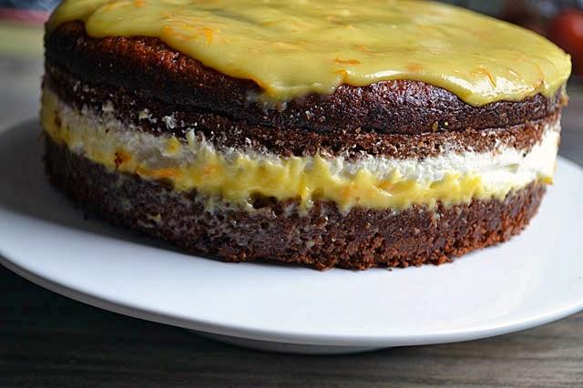 Topfen-Obers-Torte mit Orangen-Curd (c) zuckerstaub.at