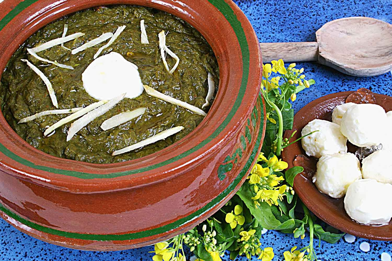 Sarson Ka Saag from Salt'n Pepper Village Cookbook - Pakistani recipes