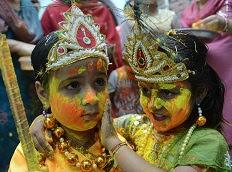 Krishna & Radha, Holi, Amritsar.