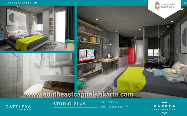 Apartemen Tipe Studio Plus Southeast Capital Jakarta Interior Design