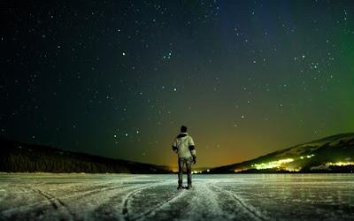 walking alone in night
