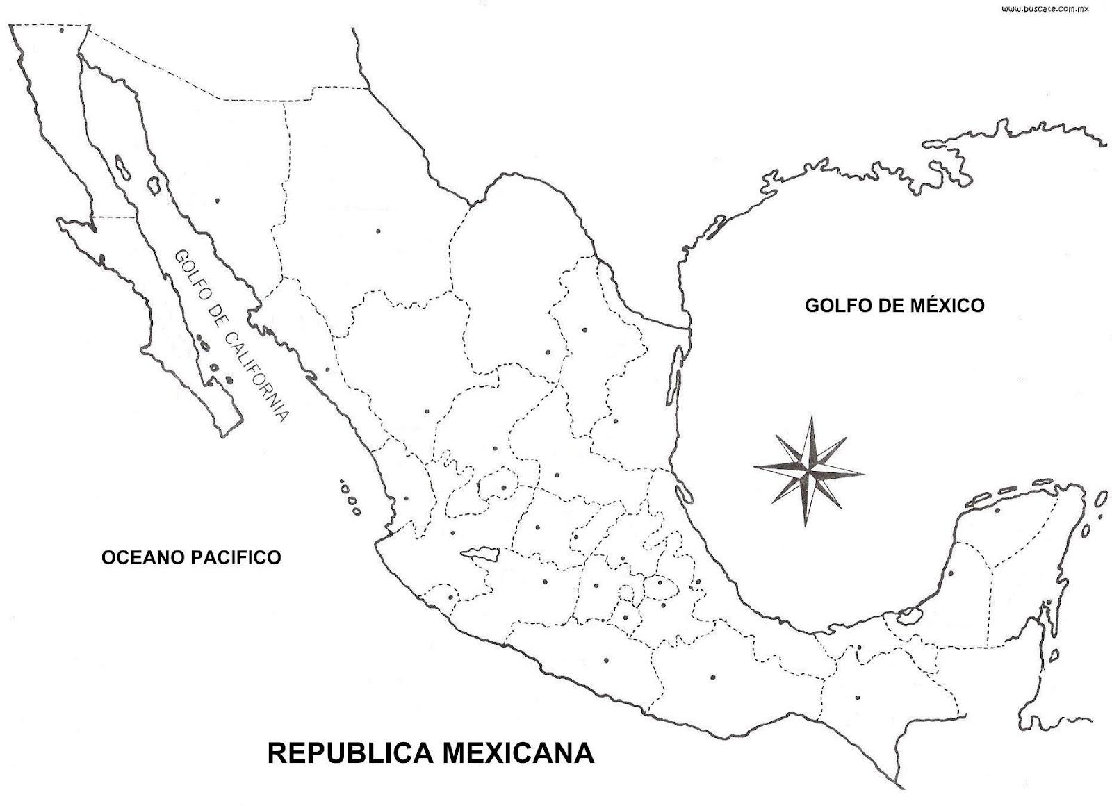 Mapa de Mxico Orogrfico hidrogrfico con  sin nombres  CGsign