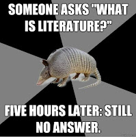 Someone asks 'What is literature?'