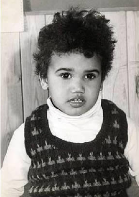 Picture from shemar moore s childhood when he was about 2 years old