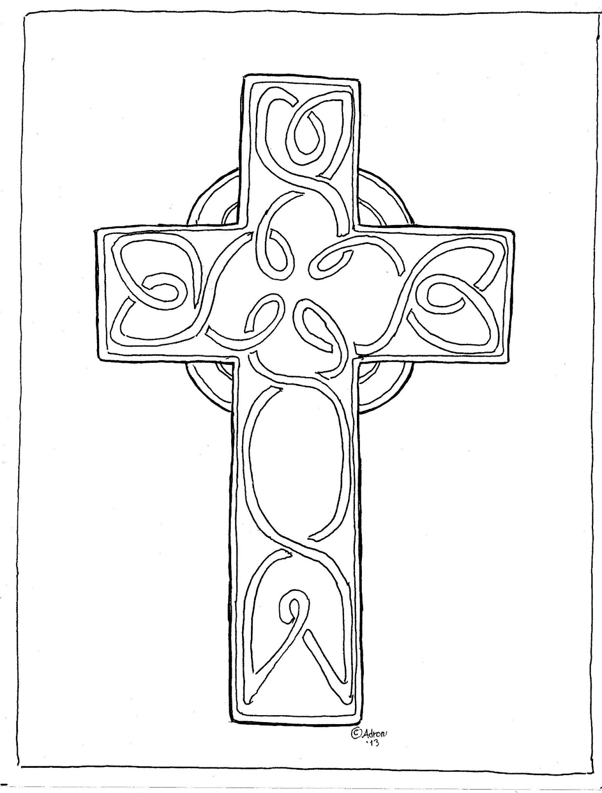 Celtic Cross Coloring Pages Download