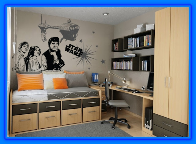 Decoracion de habitaciones con vinilos decorativos web for Decoracion de cuarto star wars