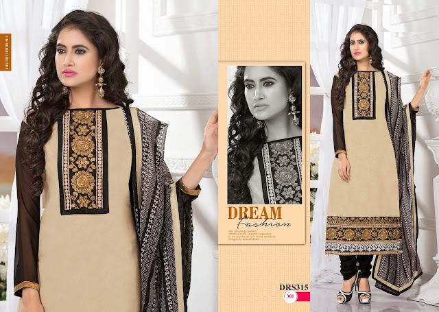 Latest Georgette Embroidery Neck Long Dress Material