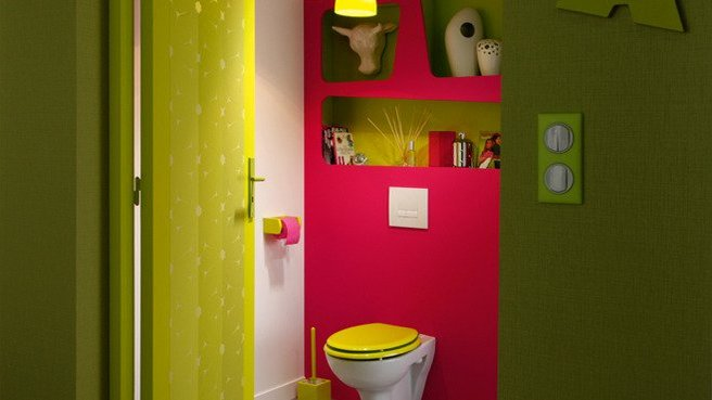 Papier peint original pour wc - Decoration toilette originale ...