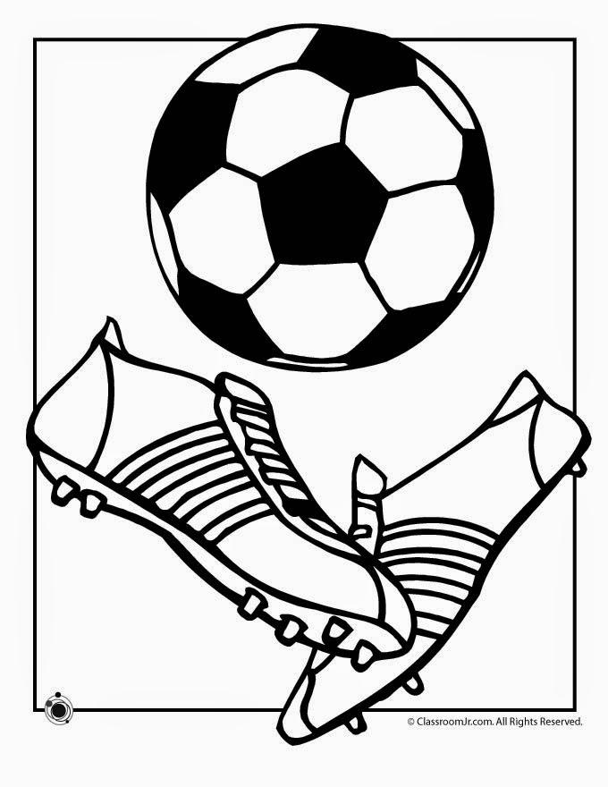 Dibujos y Plantillas para imprimir Dibujos de Futbol para