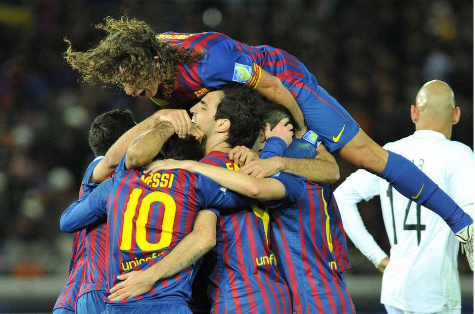 Santos v FC Barcelona.World Club  Champions 2011. First Half