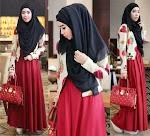 Red Royal Set Hijab GC1892 HABIS