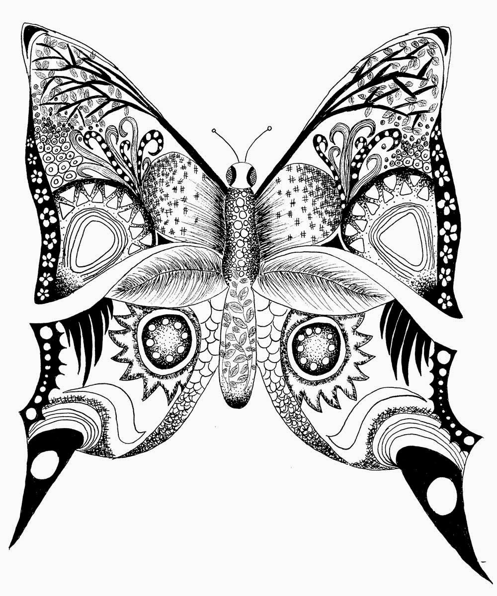 Free coloring pages butterfly - Butterfly Butterflies Coloring Pages Coloring Filminspector Com