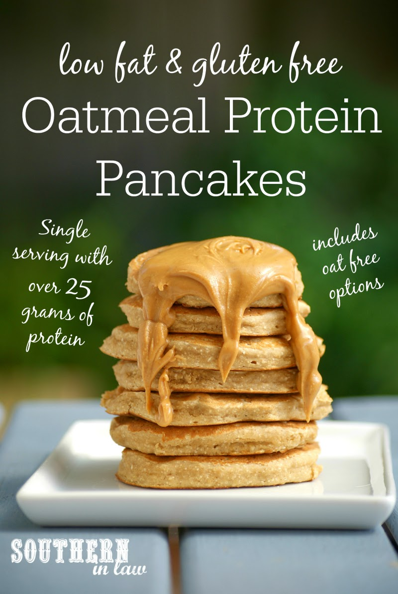 Healthy Oatmeal Protein Pancakes Recipe  low fat, gluten free, high protein, sugar free, clean eating recipe