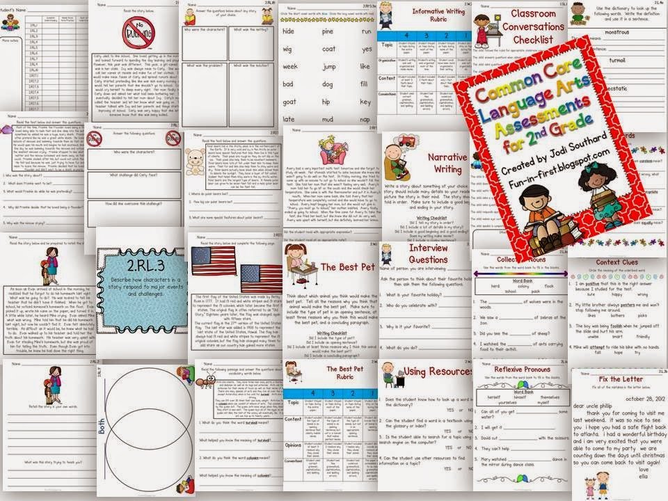 http://www.teacherspayteachers.com/Product/Common-Core-Language-Arts-Assessments-for-2nd-Grade-364508