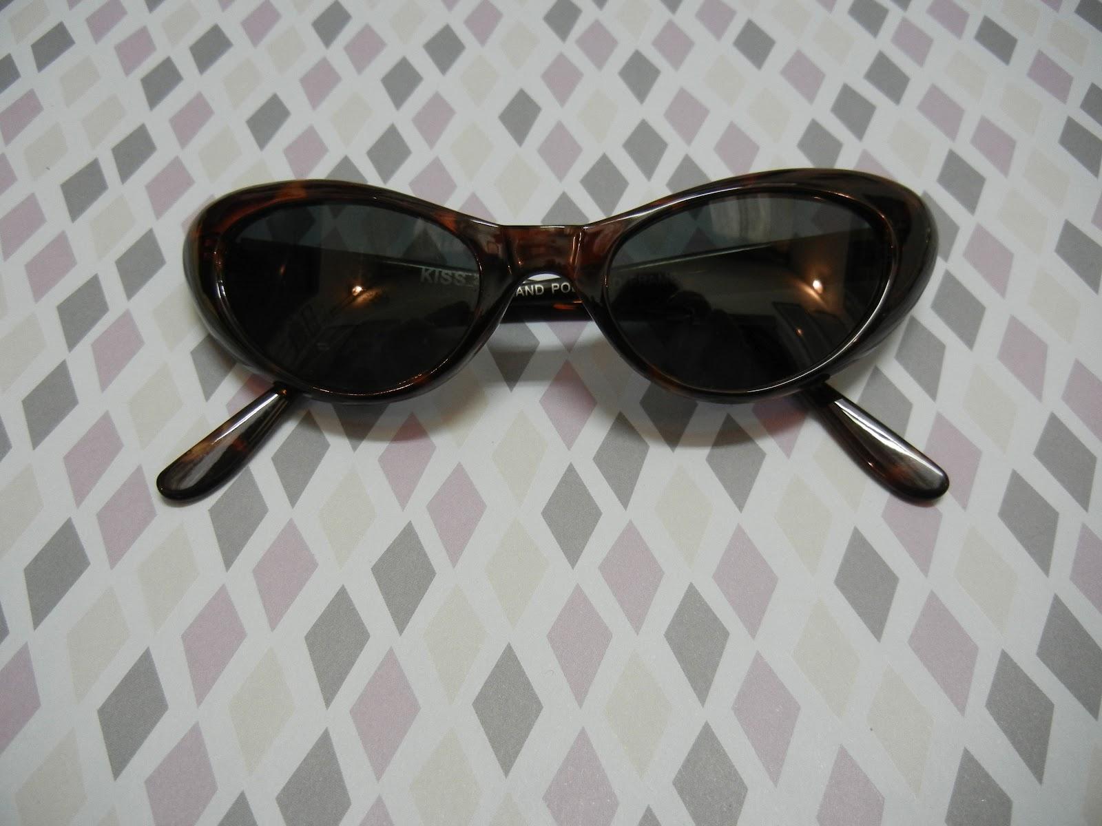 L oiseau Acessórios Vintage  Óculos Escuros Retrô Gatinho Tortoise ... 3447ff1f92