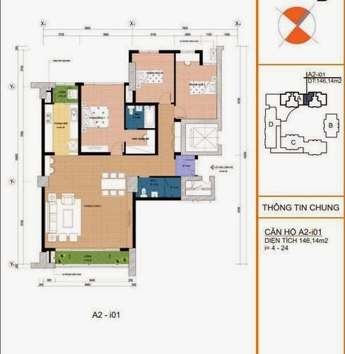 Mặt bằng căn hộ A2- i01 146,14m2