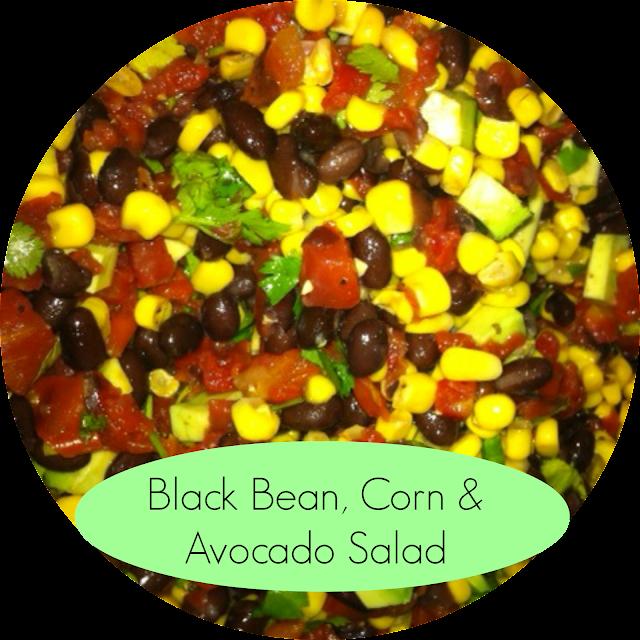 black bean corn and avocado salad