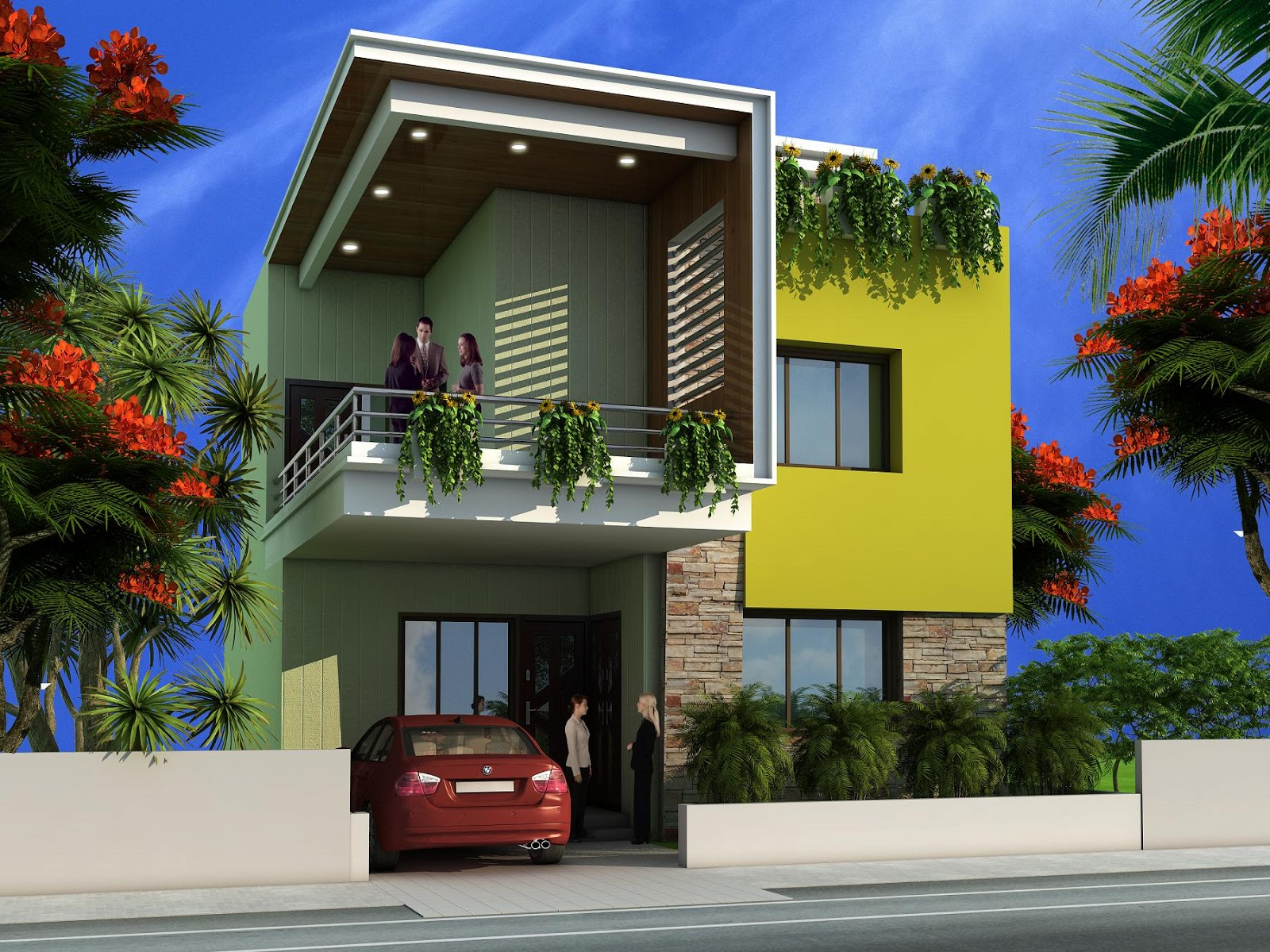 Duplex House Design, Architectural House Plans