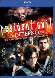 Carátula Resident Evil: Infierno película brrip latino 2012