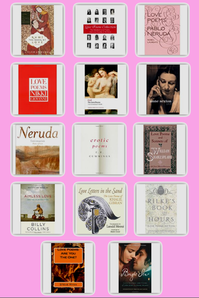 Love Poems, Valentine's Day, Tea & Poetry Book Club, Books about Love Poems