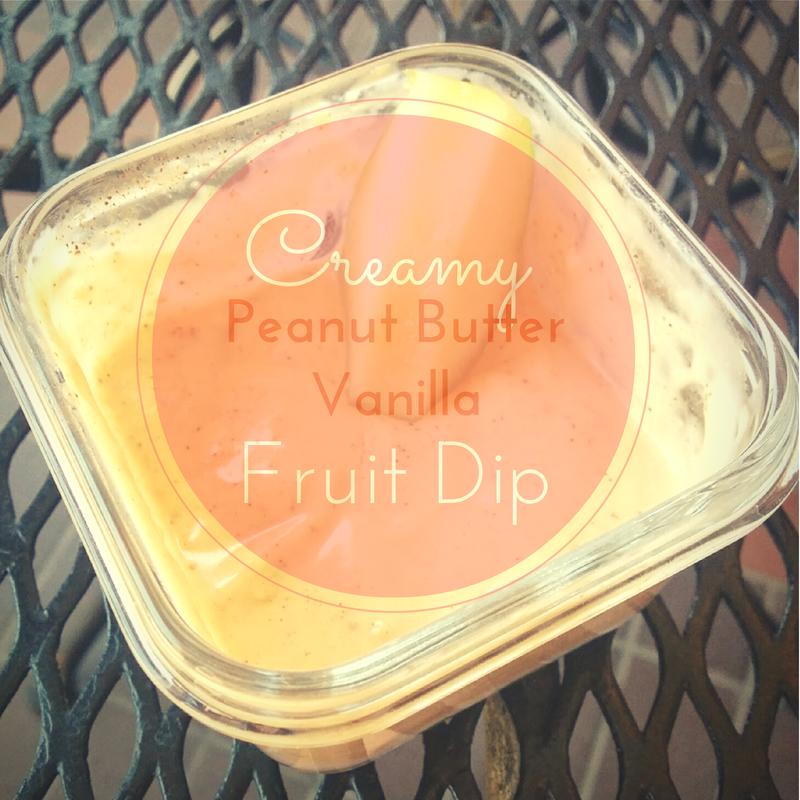 Creamy Peanut Butter Vanilla Fruit Dip | enjoyingthecourse.com