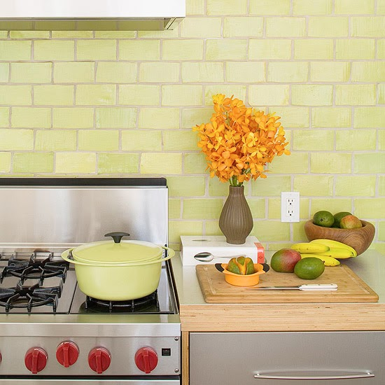 Green Kitchen Backsplash: Home Christmas Decoration: 9 Colorful Kitchen Backsplash