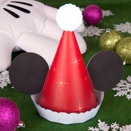 Free Printable Mickey Santa Hat.