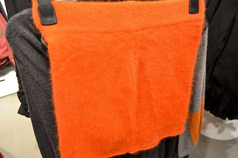 orange wool skirt at hm