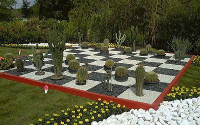 Jardin tablero de ajedrez patios y jardines for Ajedrea de jardin