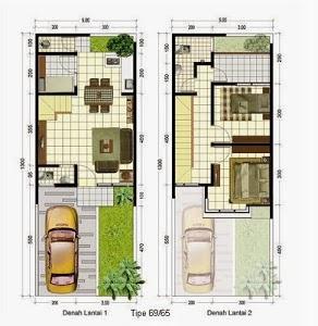 Gambar Denah Rumah Tipe  Rumah Idaman