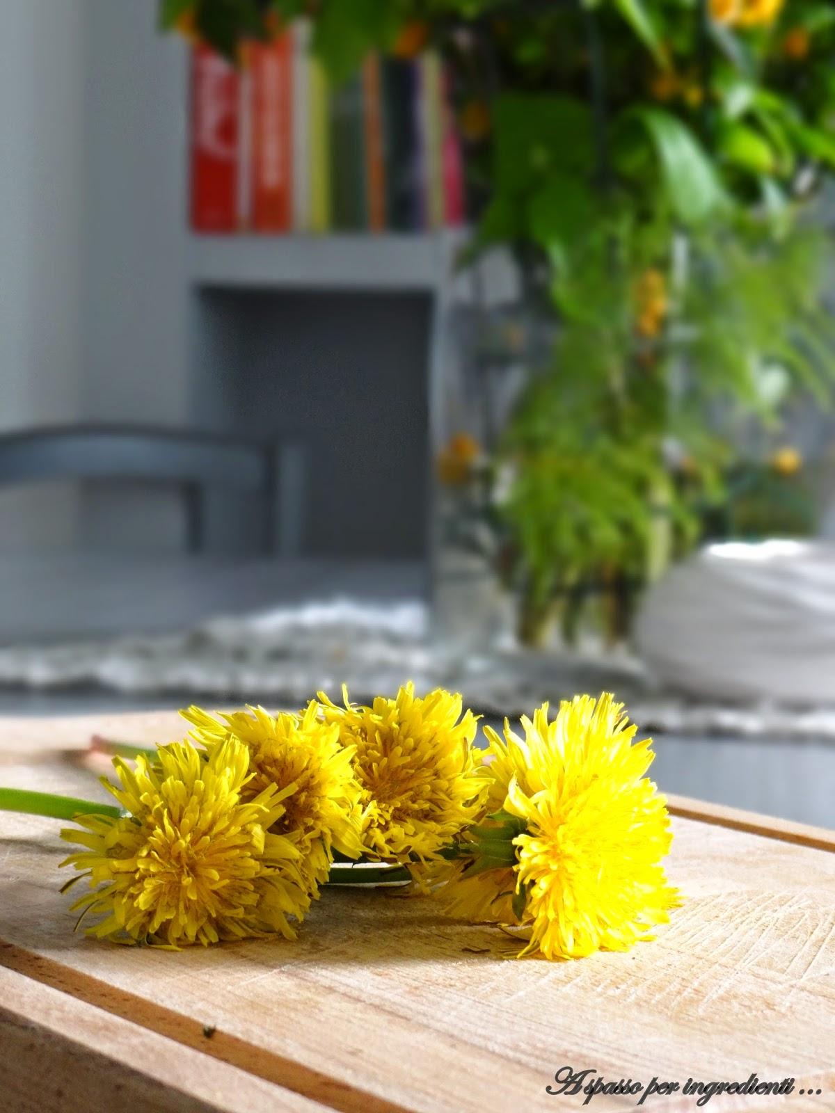 giallo come i fiori: risotto ai fiori di tarassaco