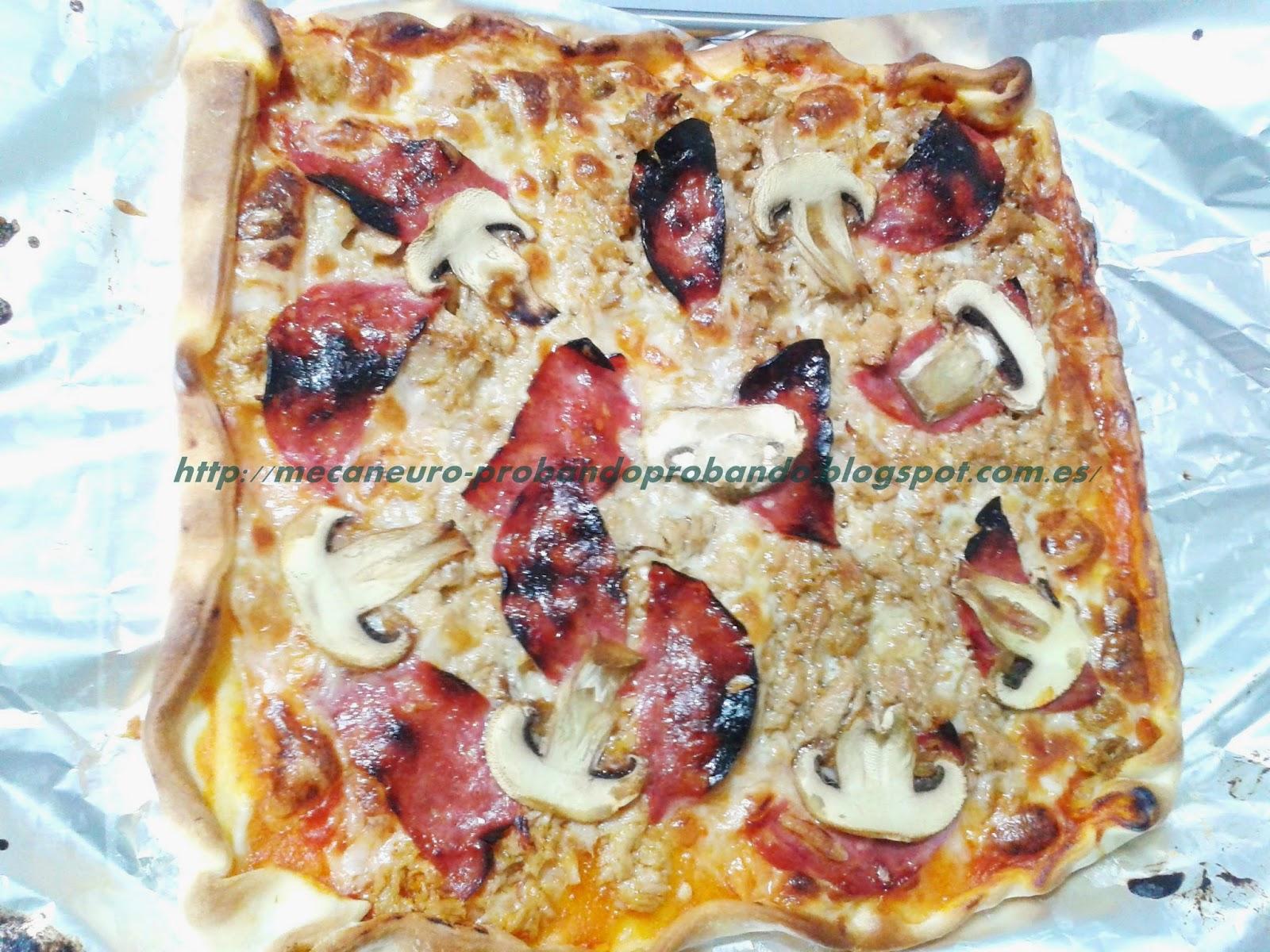 Receta: Pizza con masa preparada
