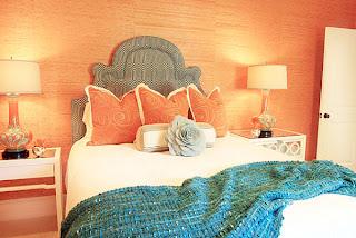 kamar+tidur+warna+orange Kombinasi Warna Interior Untuk Rumah Modern